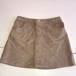 Suede-like Express Skirt in Camel